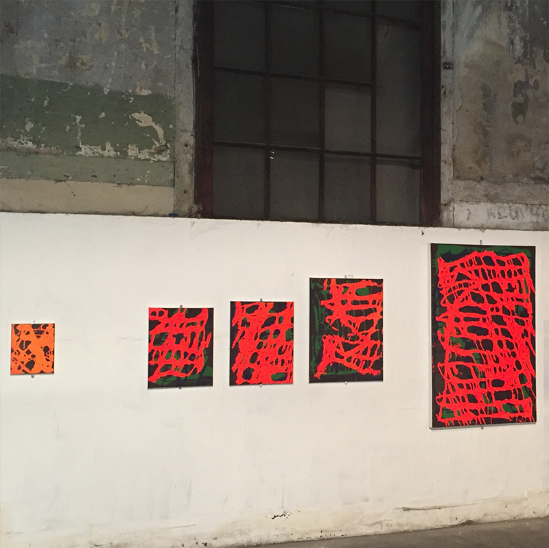 38.120 cm x 160 cm, acrylique et encre_2018
