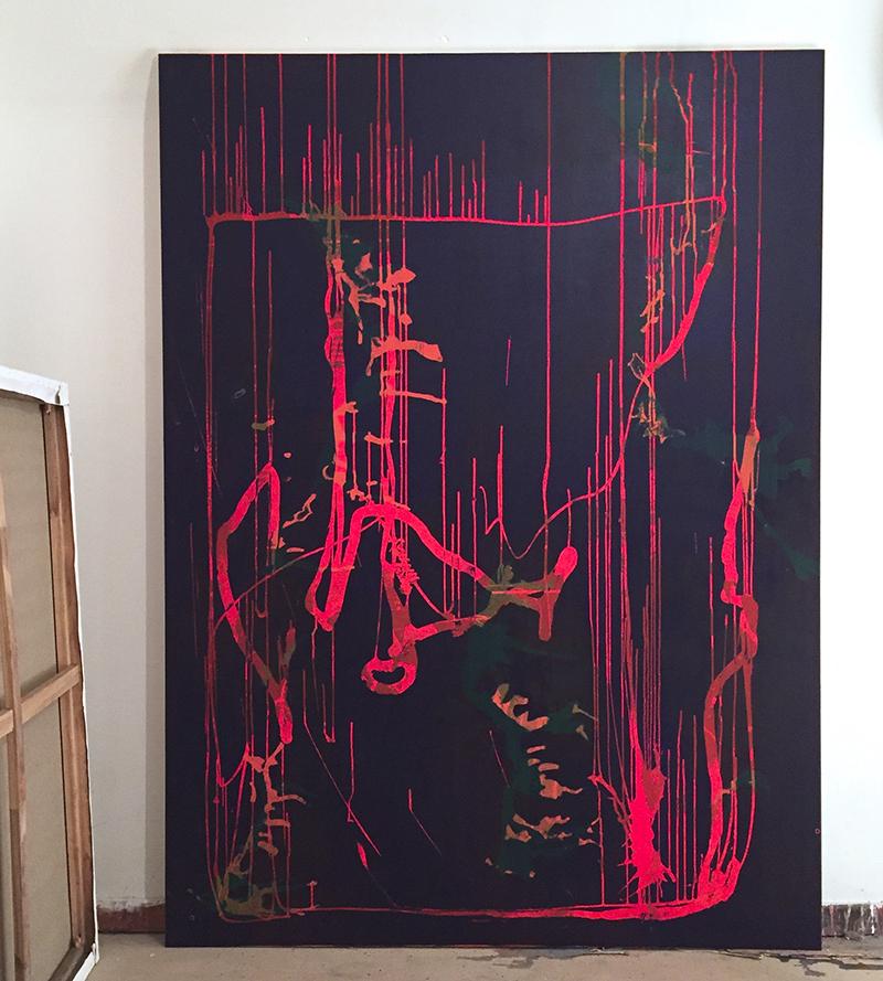39.140 cm x 190 cm, acrylique_2018